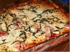 Pasta-less Eggplant Lasagna....gluten free and paleo!