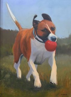 """""""Fetch"""" - oil painting"""