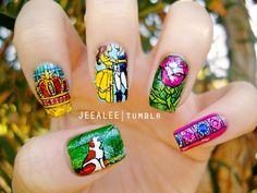 Beauty & the beast nails