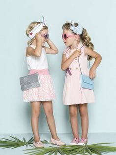 Nanos, leading company in high quality and exclusive kidswear design since Kids Fashion Wear, Young Fashion, Little Girl Fashion, Summer Baby, Summer Kids, Spring Summer, Rockabilly Kids, Vogue Kids, Cool Kids Clothes