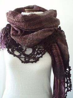 Wood nymph shawl, point lace