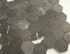 48mm Pietre Grey Honed Marble Hexagonal Mosaic Wall and Floor Tile