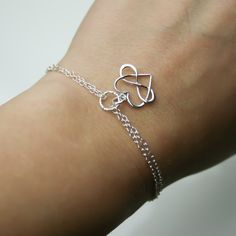 Infinity Heart Bracelet in Sterling Silver  by JewelleryByZM