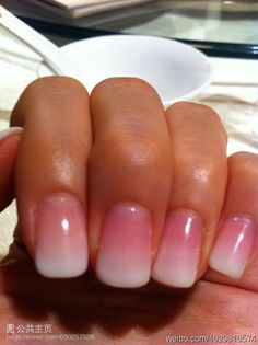 Gradual Pink to French tip. Pretty but not sure if I'll ever get acrylics again