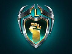 Guild Program Logo designed by Olena Salska. Connect with them on Dribbble; Game Logo, Game Ui, Game Design, Logo Design, Lion Pictures, Riot Games, Game Icon, Typographic Design, Volkswagen Logo