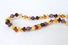 Polished baltic amber teething necklace amber от AmberJewelryStore