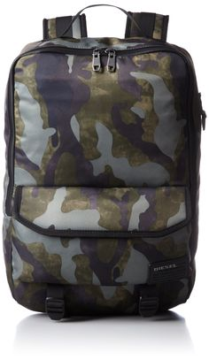 Diesel Men's Close Ranks F-Close Back Backpack, Military Camo. Suitable for mac pro'13. Adjustable straps.