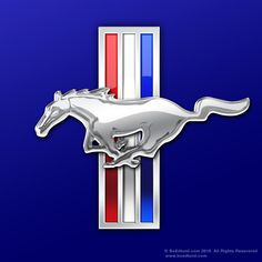 Another horse logo: the Ford Mustang wants its customers to know how fast it really is, and a galloping horse accredits that speed