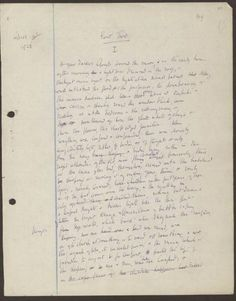 a page from virginia woolfs manuscript of to the lighthouse 1926 shakespeare love poems