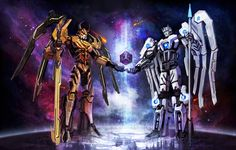 KTE: Creation of Cybertron by Naihaan on deviantART Oh my, this is amazing. Primus and Unicron, forming the beautiful planet Cybertron.