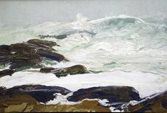 """Cream Surf,"" George Wesley Bellows, 1913, Oil on panel, 13 x 19 1/2"", Collection of Harrison Ford."