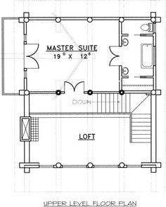 Find your dream log-cabin style house plan such as Plan which is a 2057 sq ft, 3 bed, 3 bath home with 0 garage stalls from Monster House Plans. Log Cabin House Plans, House Plan With Loft, Log Cabin Kits, Mountain House Plans, Log Cabin Homes, Dream House Plans, House Floor Plans, Log Cabins, Mountain Homes