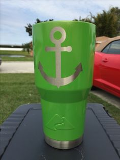 Anchor Custom Powder Coated Cups! No Stickers No Vinyl! 100% Powder Coat! Need a Cup, Hit me Up! The Cup Plug!