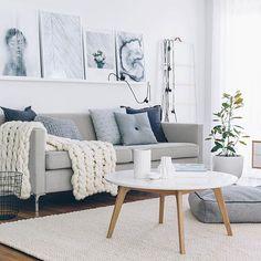 sofá gris decoración nórdica