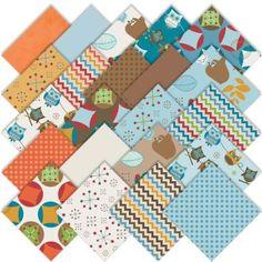 Amazon.com: Riley Blake Hooty Hoot Returns Charm Pack Stacker, Set of 22 5-inch (12.7cm) Precut Cotton Fabric Squares: Arts, Crafts & Sewing