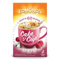 Check out edmonds cake in a cup cake mix raspberry & coconut 220g at countdown.co.nz. Order 24/7 at our online supermarket