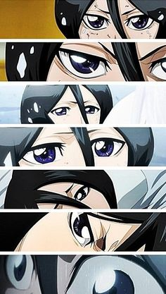 Rukia Kuchiki's eyes. #bleach Eyes say more in one glance then anyone can in 1000 words