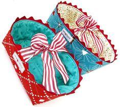 Fabric Gift Baskets Tutorial