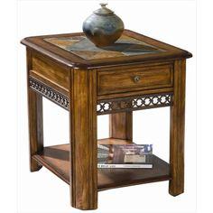 End Table with Slate Inlay | Nebraska Furniture Mart