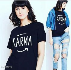 Tshirts New Attractive Women's T-Shirt Fabric: Cotton Sleeve Length: Short Sleeves Pattern: Printed Multipack: 1 Sizes: S (Bust Size: 34 in Length Size: 28 in)  XL (Bust Size: 40 in Length Size: 28 in)  L (Bust Size: 38 in Length Size: 28 in)  M (Bust Size: 36 in Length Size: 28 in)  XXL (Bust Size: 42 in Length Size: 28 in) Country of Origin: India Sizes Available: S, M, L, XL, XXL, 4XL   Catalog Rating: ★3.9 (7847)  Catalog Name: New Attractive Women's T-Shirt CatalogID_583070 C79-SC1021 Code: 191-4100719-573