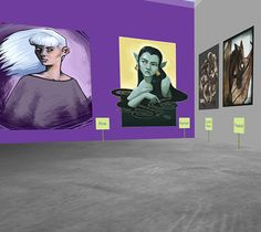 Preview image of the 'Elena's art exhibition' space.