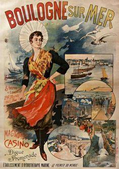 Affiche Boulogne sur mer , Boulonnaise et casino