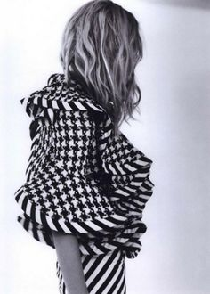 This is so funky chic, and the houndstooth adds an element of class. Can't get enough of it. -V