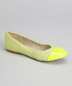 Look at this #zulilyfind! Neon Yellow Atlas Ballet Flat #zulilyfinds
