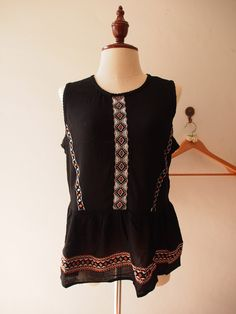 Black Boho Blouse Sleeveless Bohemian Hippie Top Blouse (Free Size US8-US10) sold by Trendiva. Shop more products from Trendiva on Storenvy, the home of independent small businesses all over the world.