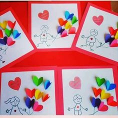 Muttertag Vatertag Geschenk Herz The Effective Pictures We Offer You About Mothers Day Crafts for Ki Valentine's Day Crafts For Kids, Art For Kids, Diy And Crafts, Paper Crafts, Stick Crafts, Diy Valentines Cards, Valentine Crafts For Kids, Diy Valentine's Cards For Him, Child Day