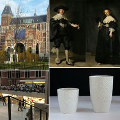 Exclusief vervaardigd voor Rijksmuseum Amsterdam  Ontwerper Sander Luske liet zich inspireren door het rijke kant van Rembrandt's Marten & Oopjen. Het patroon van dit prachtige kant is terug te vinden op deze porselein producten. Onze client medewerkers hebben deze kopjes en bekers geheel met de hand vervaardigd. Dutch design, hand gemaakt en sociaal duurzaam!  Wit bakkend porselein gebakken op 1280 C.  Vaatwas- en magnetronbestendig.