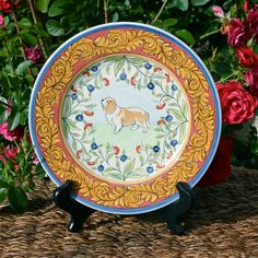 Items similar to Cavalier King Charles Spaniel Plate - Hand Painted on Etsy
