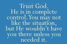 Ok I trust you LORD!
