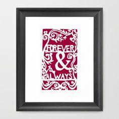 Forever & Always - Raspberry Framed Art Print by Rachel Winkelman - $32.00