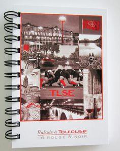 Jolie déclinaison de la gamme Balade à Toulouse... Un très joli carnet de notes à spirales au format A6.