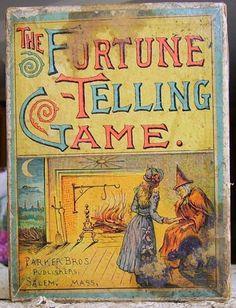 Fortune Telling Game, antique Parker Bros.
