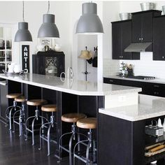 """Becky on Instagram: """"It's Friday!!! Feature Friday that is 🤗 I recently discovered Maggie @truelockdesigns and I love each square! Go check her out and enjoy…"""" Cool Kitchens, Dark Kitchens, Architecture, Old World, Future House, House Design, Table, Furniture, Kitchen Designs"""