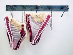 meat carcasses recreated in fabric by tamara kostianovsky - designboom | architecture
