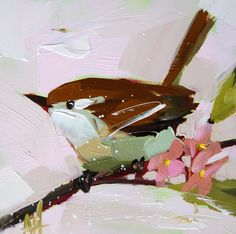 Carolina Wren no. 20 original bird oil painting por prattcreekart