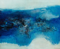 Zao Wou-Ki (Chinese-French, 1920-2013), 27.4.69, 1969. Oil on canvas, 46 x 55 cm.