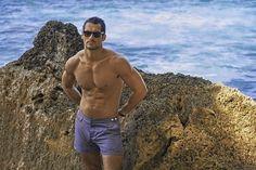 David Gandy and Marks & Spencer launched Swimwear Collection 2015 hair by Larry King Swimwear 2015, Swimwear Fashion, Male Swimwear, David Gandy, Tommy Hilfiger, News Fashion, Male Fashion, The Fashionisto, Mens Swim Shorts