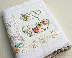 Vintage linen journal by Rebecca Sower, via Flickr