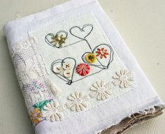 vintage linen art journal (sold)
