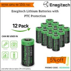 The Enegitech 12 pack CR123A 3V non rechargeable lithium batteries with PTC protection can be used in smoke alarm, smoke detector, photo cameras, Flash lights, etc. Click here https://www.amazon.com/CR123A-1600mAh-Enegite…/…/ref=sr_1_1… to buy and get 5%off. #lithiumbatteries #buylithiumbatteries #batteriesforsale
