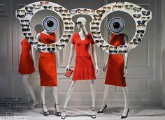 """""""summer eye wear"""", pinned by Ton van der Veer Fashion Window Display, Window Display Design, Shop Window Displays, Store Displays, Retail Windows, Store Windows, Visual Merchandising, Clothing Displays, Visual Display"""