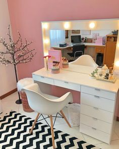 Modern Dresser Design Ideas For Makeup Room To Copy Today Room Makeover, Aesthetic Room Decor, Room Design, Bedroom Makeover, Room Inspiration, Room Decor, Bedroom Decor, Dorm Room Designs, Girl Bedroom Decor