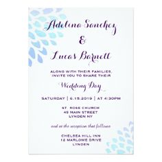 29 best blue hydrangea wedding invitations images on pinterest