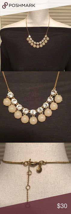 "J Crew Vintage Gold Statement Necklace Gently used Beautiful statement necklace Vintage gold 3 "" extender J. Crew Jewelry Necklaces"