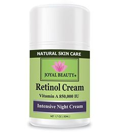 Best Retinol Cream for Face and Eyes by Joyal BeautyUnique Stabilized Vitamin A 850000 IU Enriched with SqualaneVitamins B3B5EHyaluronicArgan OilBest Night Cream for wrinklesacneblemishes ** You can find more details by visiting the image link.(This is an Amazon affiliate link and I receive a commission for the sales)