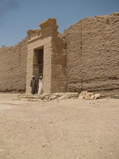 Deir al Medina   Egypt--How many mud bricks did it take to build a single house, let alone a palace or pyramid?